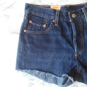 Levi's Shorts - New Levi's 501 high waist cutoff denim shorts